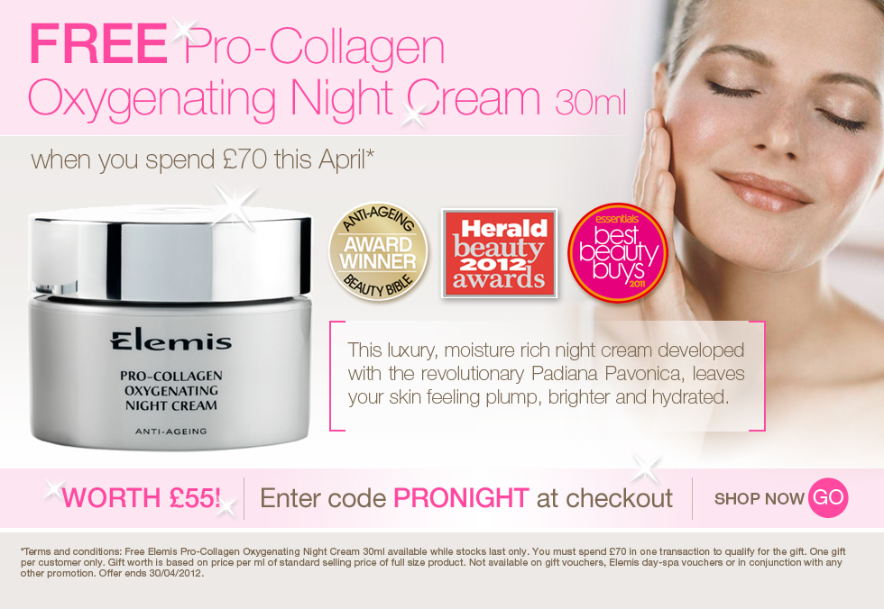 FREE Pro-Collagen Oxygenating Night Cream 30ml on orders over £70